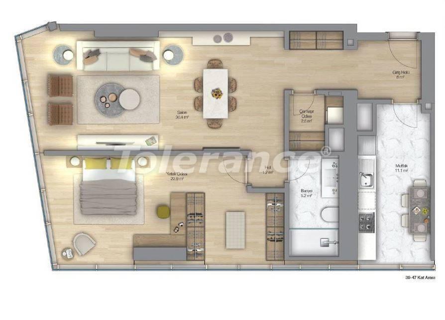 Роскошные квартиры в современном комплексе в Шишли, Стамбул с рассрочкой до 4-х лет с видом на Босфор - 18515 | Tolerance Homes