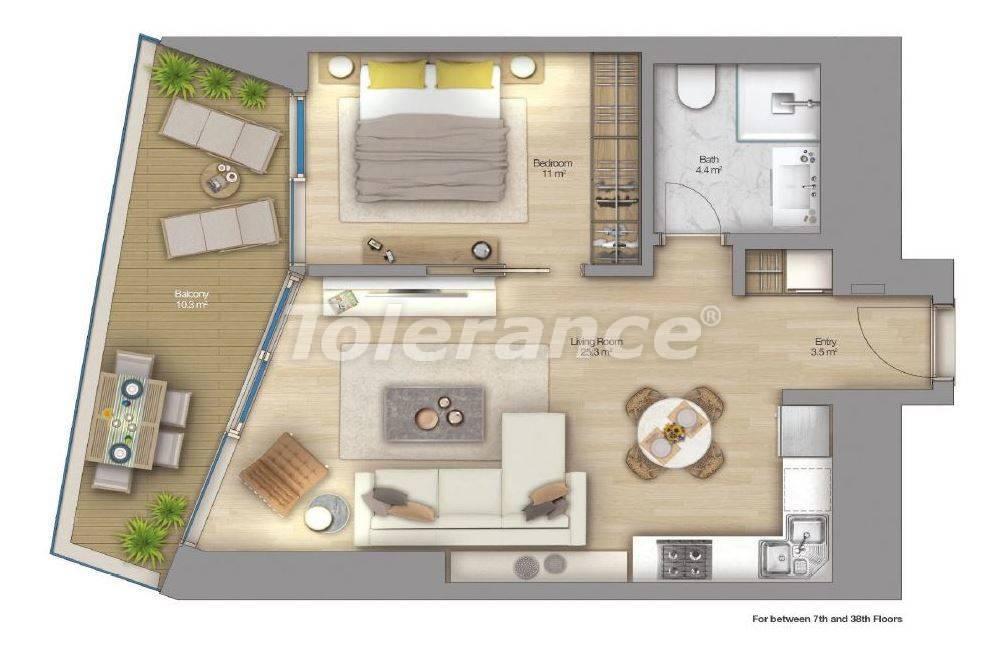 Роскошные квартиры в современном комплексе в Шишли, Стамбул с рассрочкой до 4-х лет с видом на Босфор - 18514 | Tolerance Homes