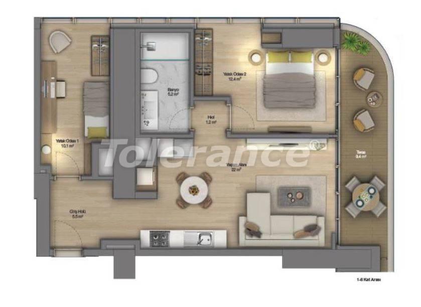 Роскошные квартиры в современном комплексе в Шишли, Стамбул с рассрочкой до 4-х лет с видом на Босфор - 18516 | Tolerance Homes
