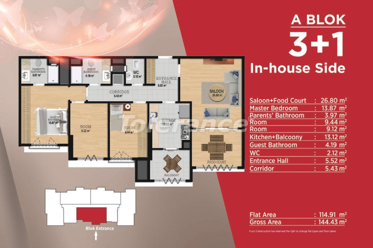 Просторные квартиры в Башакшехир, Стамбул в современном комплексе с развитой инфраструктурой - 21500 | Tolerance Homes
