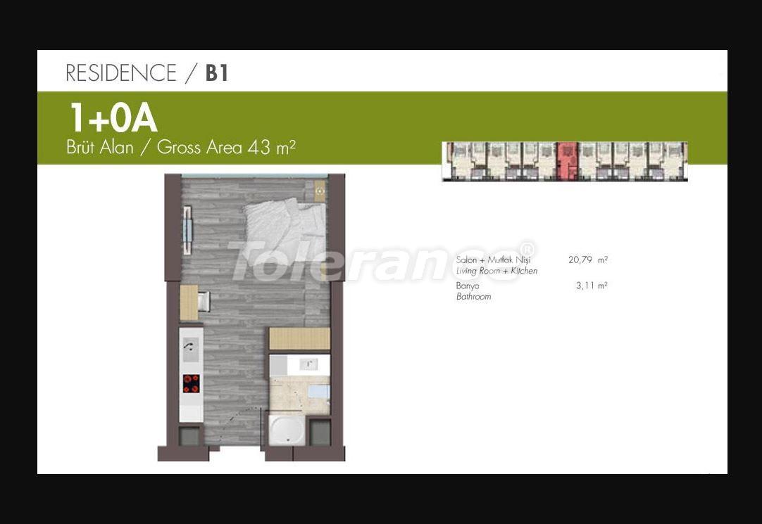 Квартиры класса люкс в Стамбуле в современном комплексе с развитой инфраструктурой в рассрочку - 21147 | Tolerance Homes