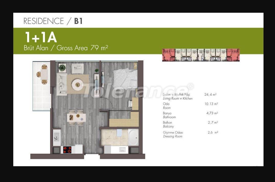 Квартиры класса люкс в Стамбуле в современном комплексе с развитой инфраструктурой в рассрочку - 21148 | Tolerance Homes