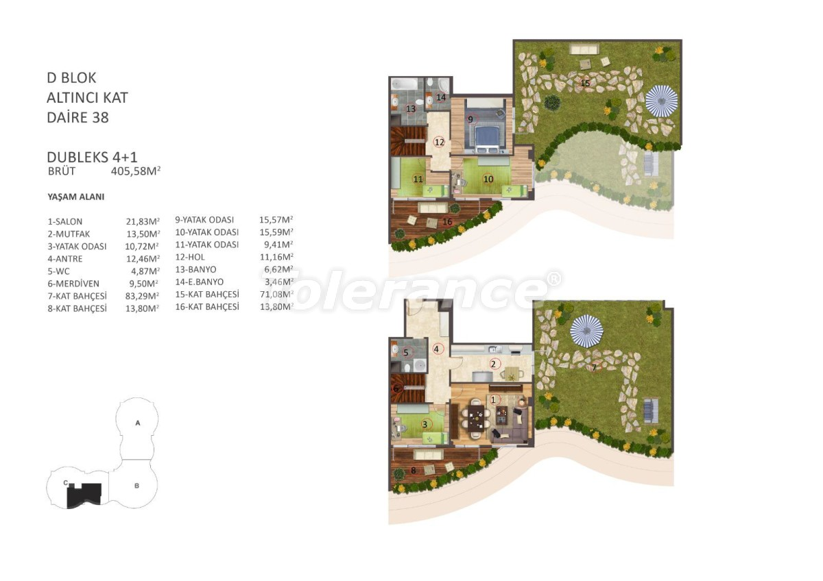 Роскошные апартаменты в центре Стамбула с бассейном, сауной и фитнесом - 16864 | Tolerance Homes