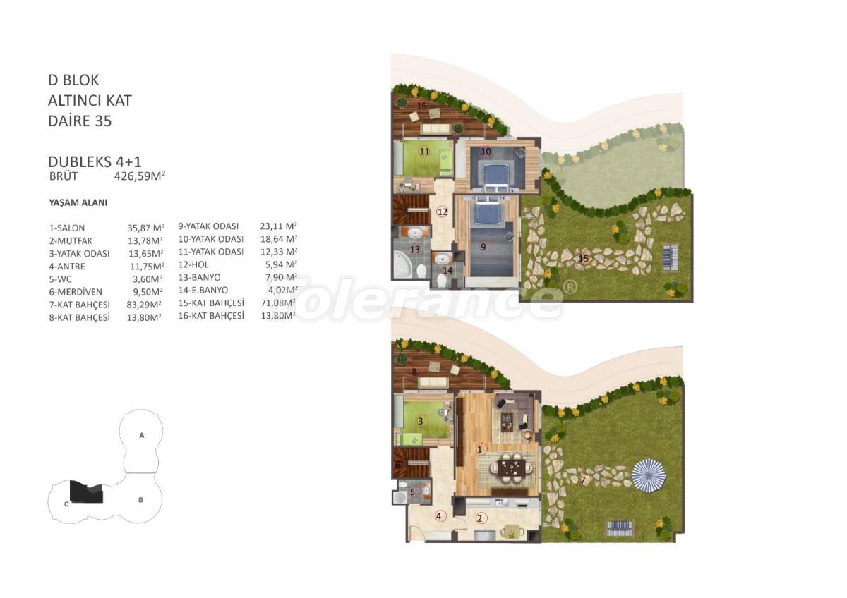 Роскошные апартаменты в центре Стамбула с бассейном, сауной и фитнесом - 16867   Tolerance Homes