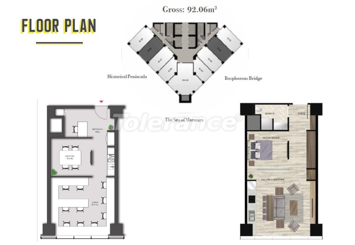 Просторные квартиры в Шишли, Стамбул в современном комплексе с гарантией аренды на 3 года - 24696 | Tolerance Homes