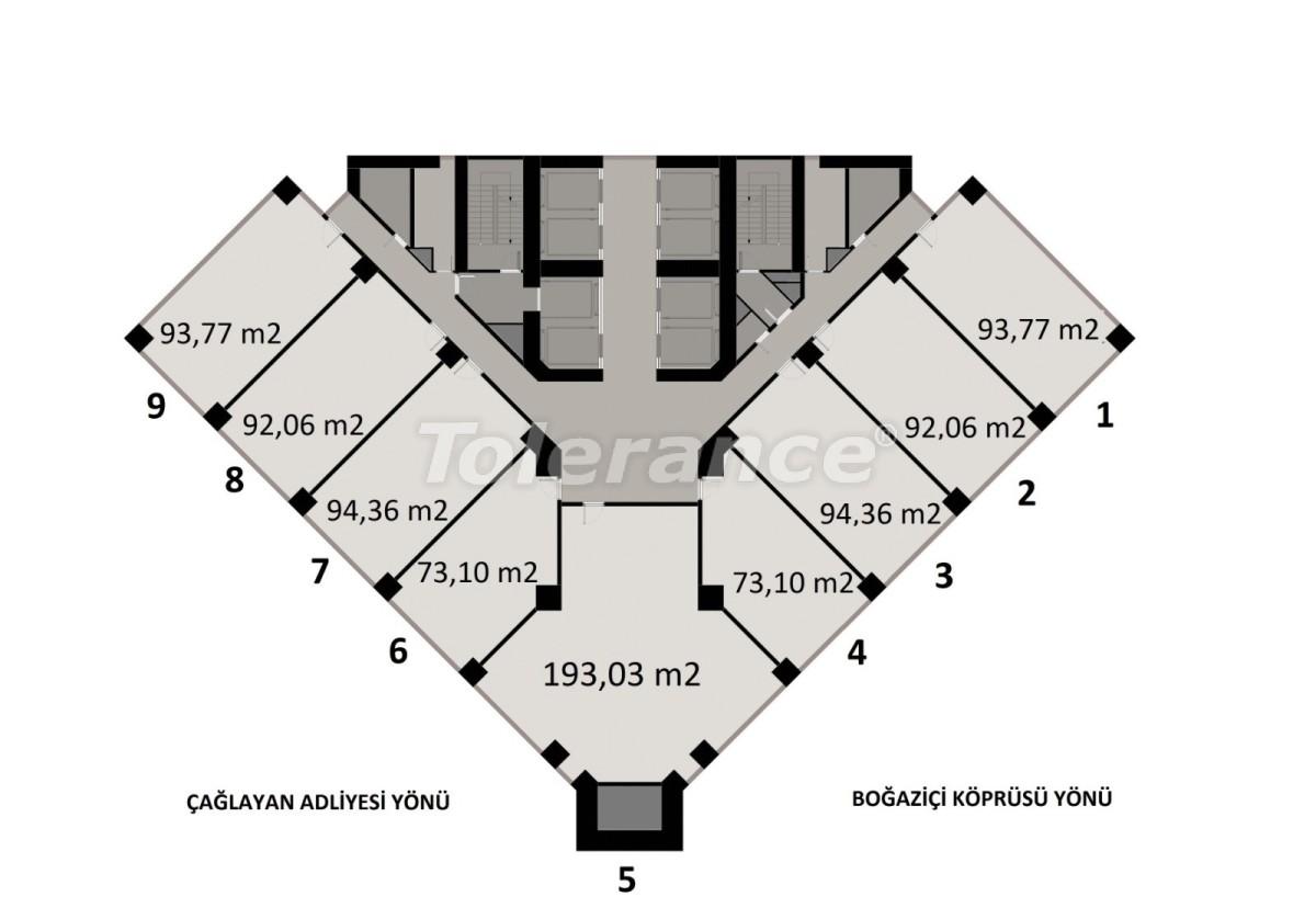 Просторные квартиры в Шишли, Стамбул в современном комплексе с гарантией аренды на 3 года - 24699 | Tolerance Homes