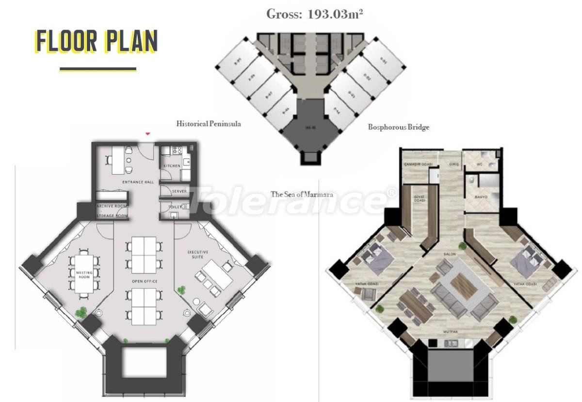 Просторные квартиры в Шишли, Стамбул в современном комплексе с гарантией аренды на 3 года - 24698 | Tolerance Homes