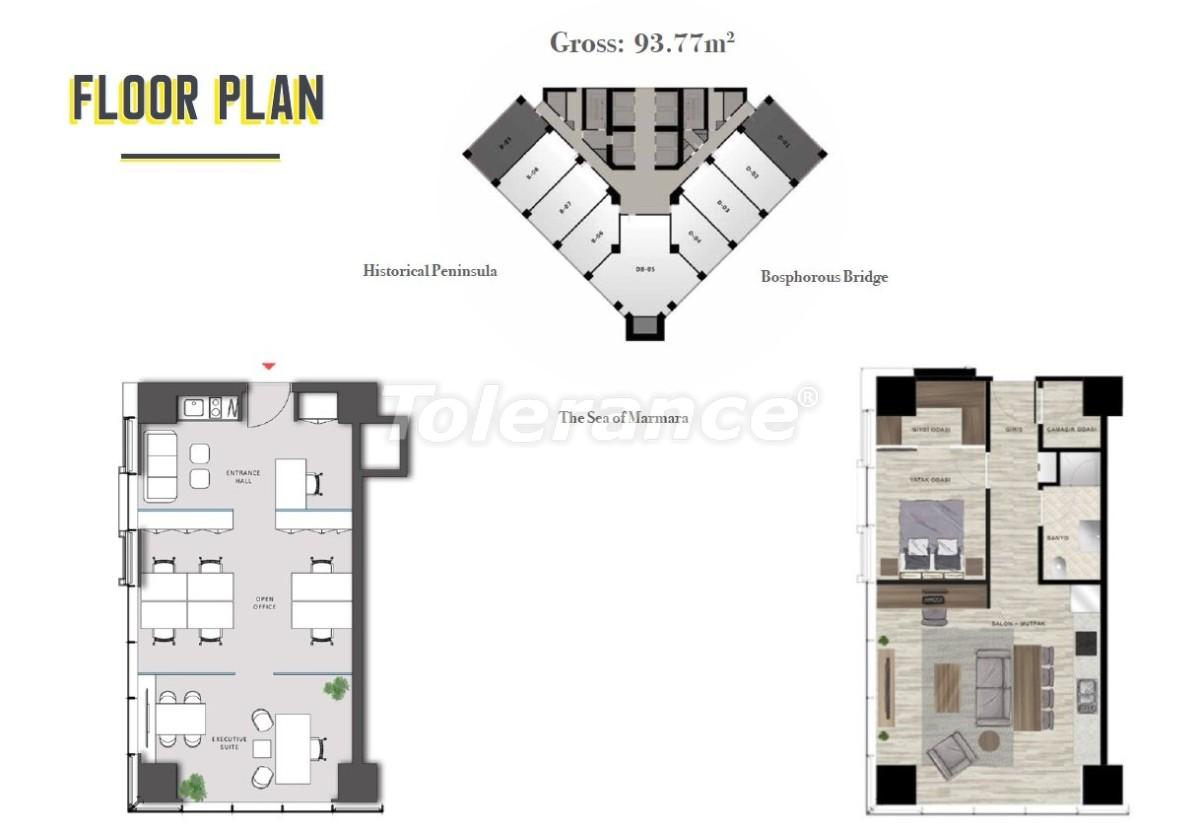Просторные квартиры в Шишли, Стамбул в современном комплексе с гарантией аренды на 3 года - 24697 | Tolerance Homes