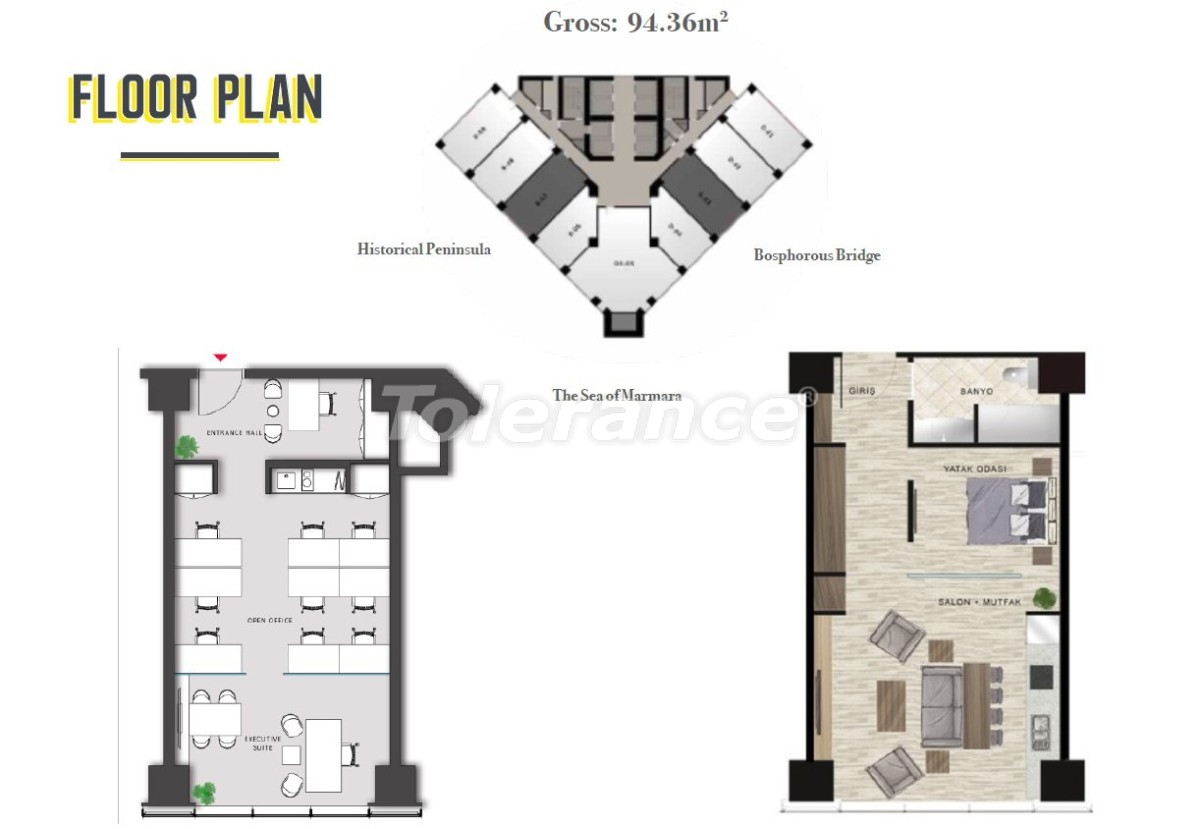 Просторные квартиры в Шишли, Стамбул в современном комплексе с гарантией аренды на 3 года - 24695 | Tolerance Homes
