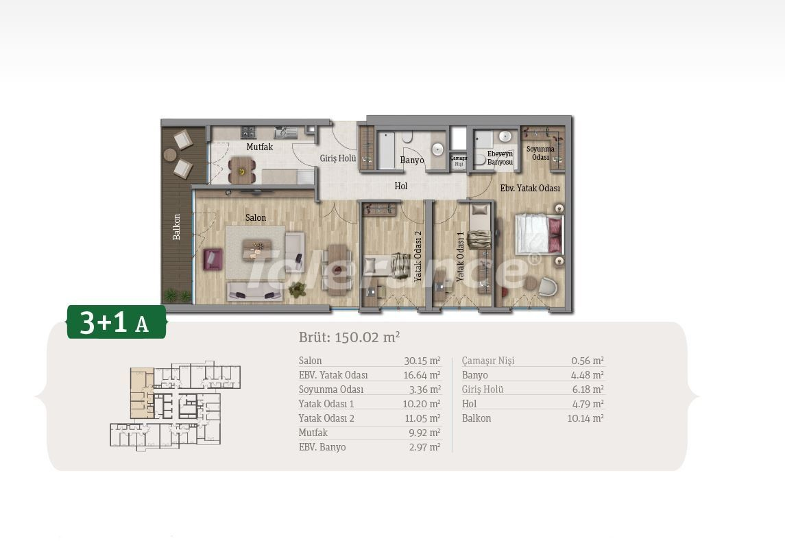 Просторные квартиры в Стамбуле, выгодные для инвестиций, в комплексе рядом с озером - 21657 | Tolerance Homes