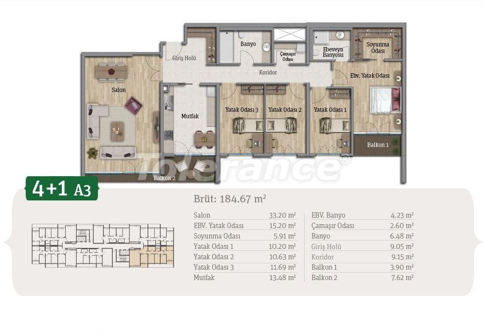 Просторные квартиры в Стамбуле, выгодные для инвестиций, в комплексе рядом с озером - 21656 | Tolerance Homes