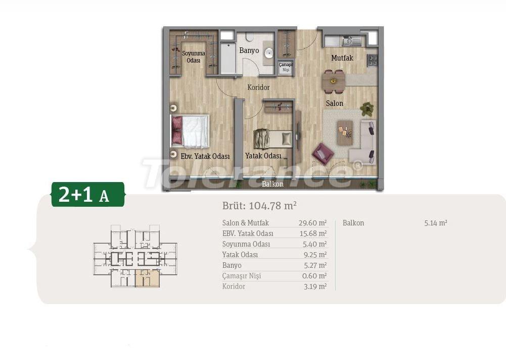 Просторные квартиры в Стамбуле, выгодные для инвестиций, в комплексе рядом с озером - 21659 | Tolerance Homes