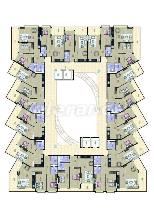 Апартаменты в Махмутларе в комплексе рядом с морем - 7767 | Tolerance Homes